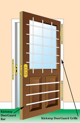 Kickstop DoorGuard Bar - Security Bar & Kickstop DoorGuard Bar - DG1