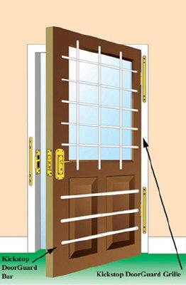 how to make almunum securty door